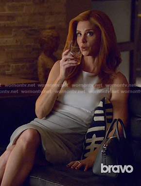 Donna's grey and white dress on Suits