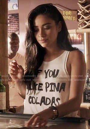 Emily's 'If You Like Pina Coladas' tank top on Pretty Little Liars