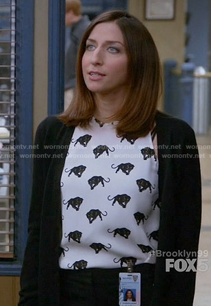 Gina's panther print top on Brooklyn Nine-Nine