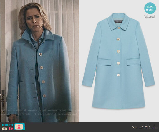 Gucci Single Breasted Wool Coat worn by Elizabeth McCord (Téa Leoni) on Madam Secretary