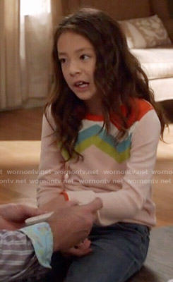 Lily's chevron striped sweater on Modern Family