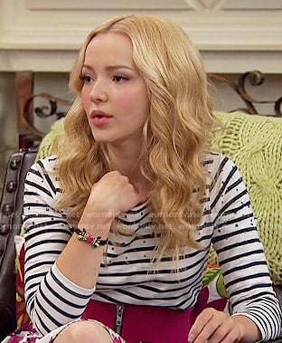 Liv's striped top with rhinestone studs on Liv and Maddie