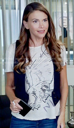 Liza's eagle graphic tee on Younger