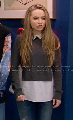 Maya's grey layered sweater on Girl Meets World