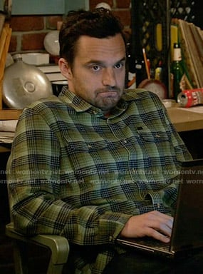Nick's green flannel shirt on New Girl