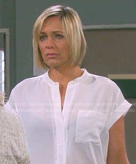 Nicole's white blouse on Days of our Lives
