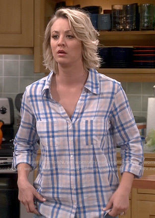 Penny's cream and blue plaid shirt on The Big Bang Theory