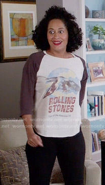 Rainbow's Rolling Stones tee on Black-ish