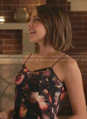 Thea's floral cami on Arrow