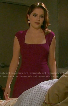 Theresa's magenta dress on Days of our Lives
