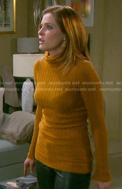 Theresa's mustard yellow turtleneck sweater on Days of our Lives
