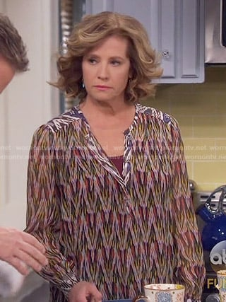 Vanessa's chevron print blouse on Last Man Standing