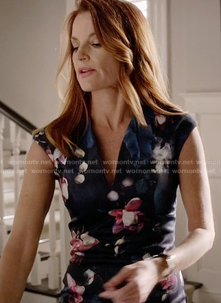 Ashley's floral dress on Pretty Little Liars