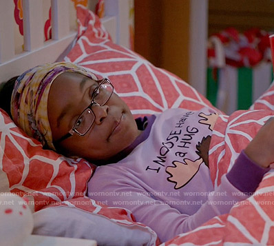 Diane's 'I Moose Have a Hug' pajamas on Black-ish