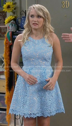 Gabi's blue lace dress on Young and Hungry