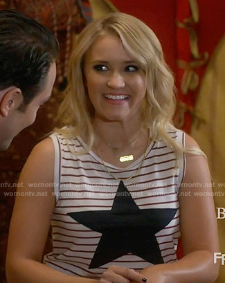 Gabi's striped star tank top on Young and Hungry