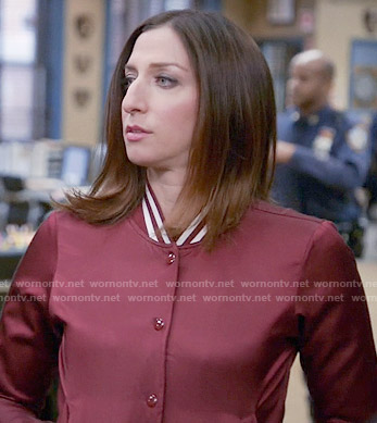 Gina's red bomber jacket on Brooklyn Nine-Nine