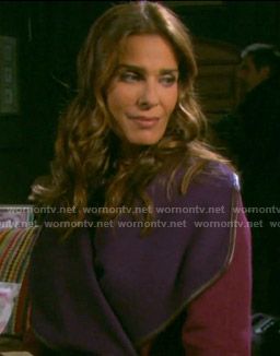 Hope's red and purple coat on Days of our Lives