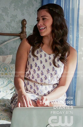 Jane's white floral dress on Jane the Virgin