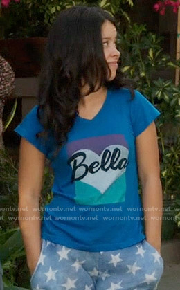 Mariana's blue Bella t-shirt on The Fosters