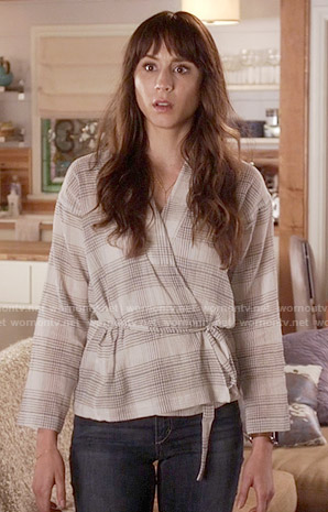 Spencer's plaid wrap top on Pretty Little Liars