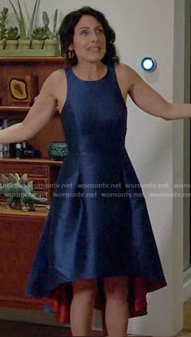 Abby's blue high low dress on Girlfriends Guide to Divorce