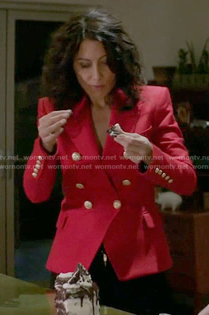 Abby's red blazer on Girlfriends Guide to Divorce