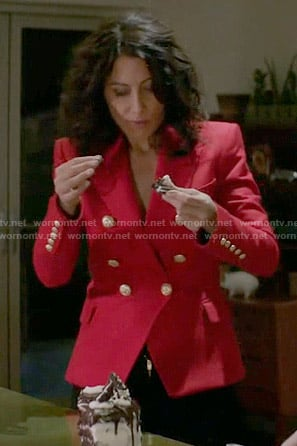 Wornontv Abby S Red Blazer On Girlfriends Guide To