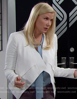 Brooke's white jacket on The Bold and the Beatiful