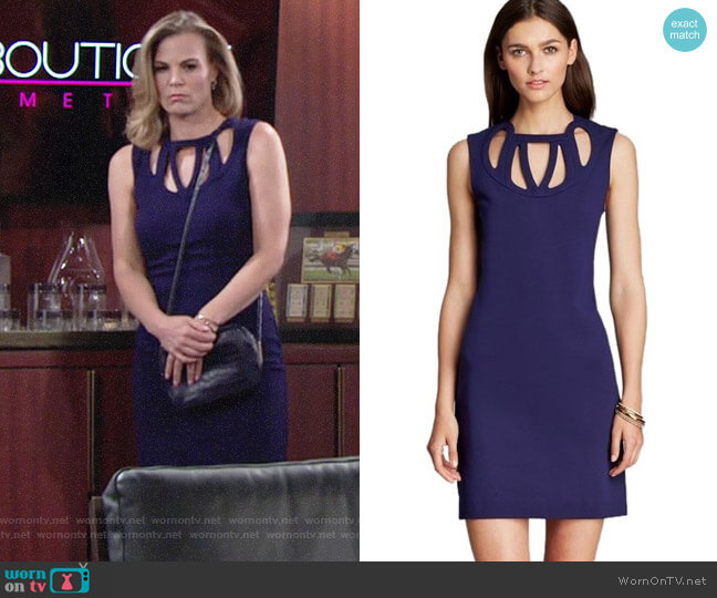Diane von Furstenberg 'Amy' Cutout Dress worn by Phyllis Newman (Gina Tognoni) on The Young & the Restless