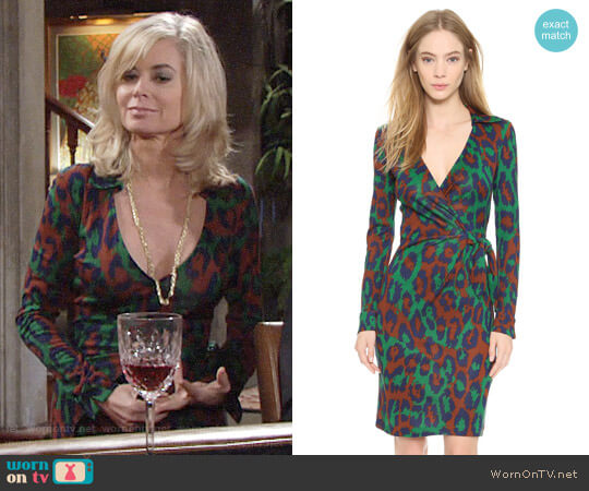 Diane von Furstenberg Savannah Dress worn by Ashley Abbott (Eileen Davidson) on The Young & the Restless