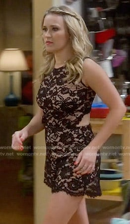 Gabi's black lace romper on Young and Hungry