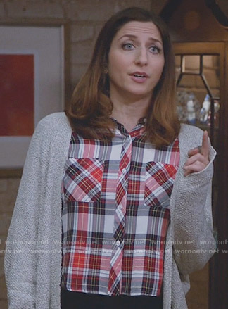 Gina's red plaid cropped shirt on Brooklyn Nine-Nine