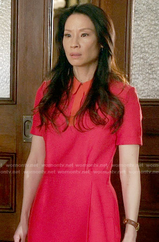 Joan's red shirtdress on Elementary