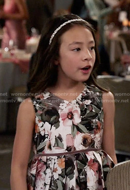 Lily's floral  dress on Modern Family