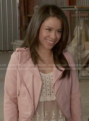 Mariana's pink leather jacket on The Fosters
