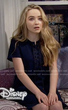 Maya's denim lace-up dress on Girl Meets World