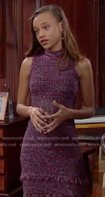 Nicole's purple fringed dress on The Bold and the Beautiful