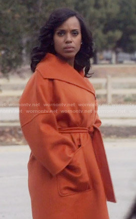 Olivia's orange coat on Scandal