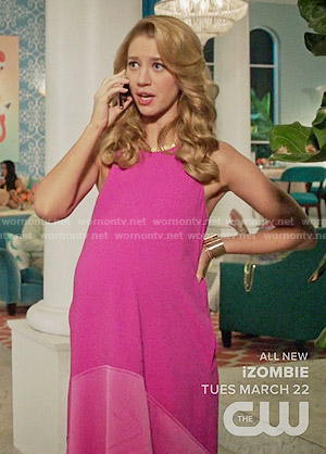Petra's pink high-low dress on Jane the Virgin