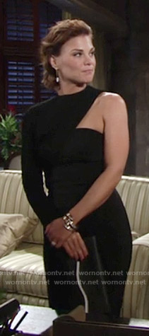 Phyllis's black one-sleeve dress on The Young and the Restless