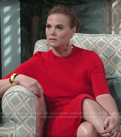 Phyllis's red dress on The Young and the Restless