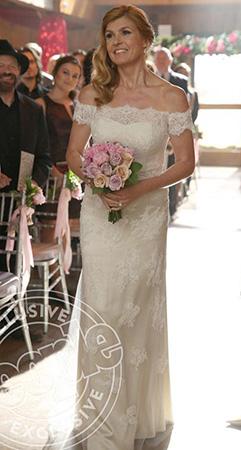 Rayna's wedding dress on Nashville