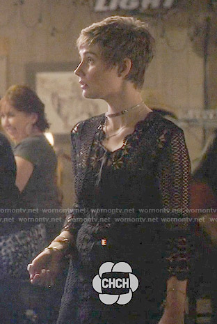 Scarlett's black crochet dress on Nashville