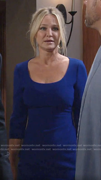 Sharon's blue dress on The Young and the Restless