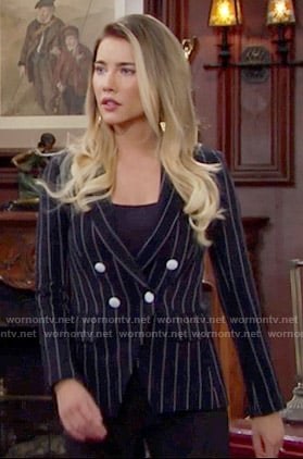 Steffy's pinstriped blazer on The Bold and the Beautiful