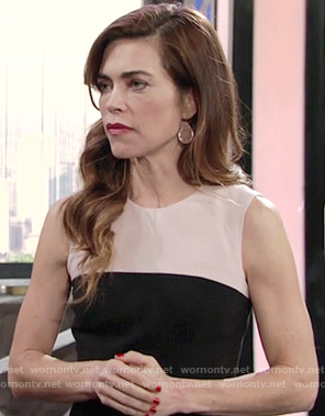 Victoria's black and blush dress on The Young and the Restless