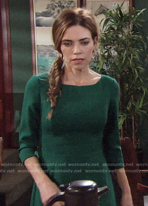 Victoria's green dress on The Young and the Restless