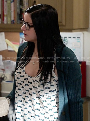 Alex's dragonfly print top on Modern Family