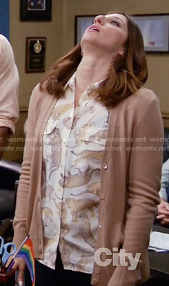 Gina's leopard print shirt on Brooklyn Nine-Nine